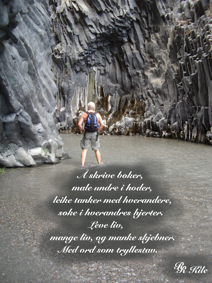 Dikt om å skrive bøker, Norsk Fantasy, Serien Liber Mundi, Norsk Science Fiction, Norsk Fantasy forfatter R.R. Kile. Spenningsbøker, Fremtidskrim